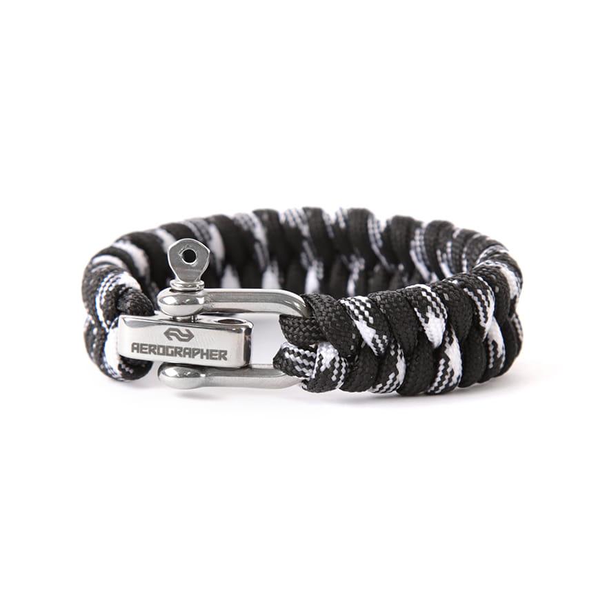 Fish Tail Bracelet - Black White