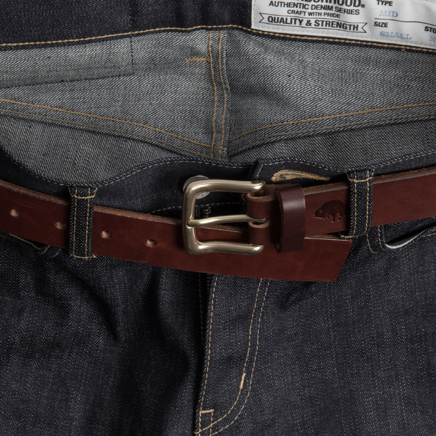 No.1 Belt  -  Burgundy