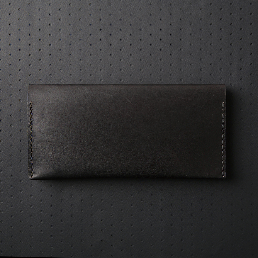 No.12 Wallet - Jet Black
