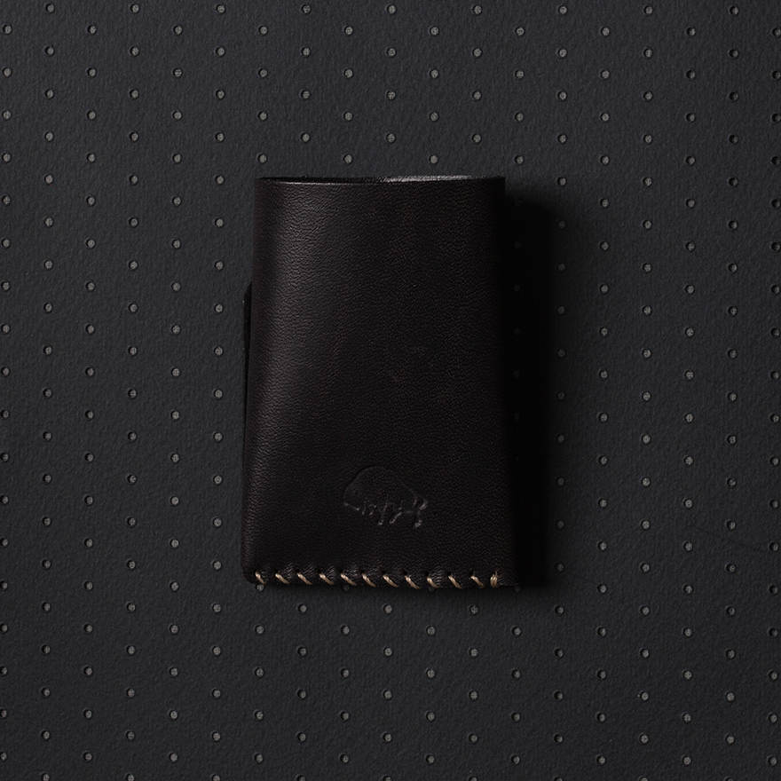 No.2 Wallet - Jet top stitch