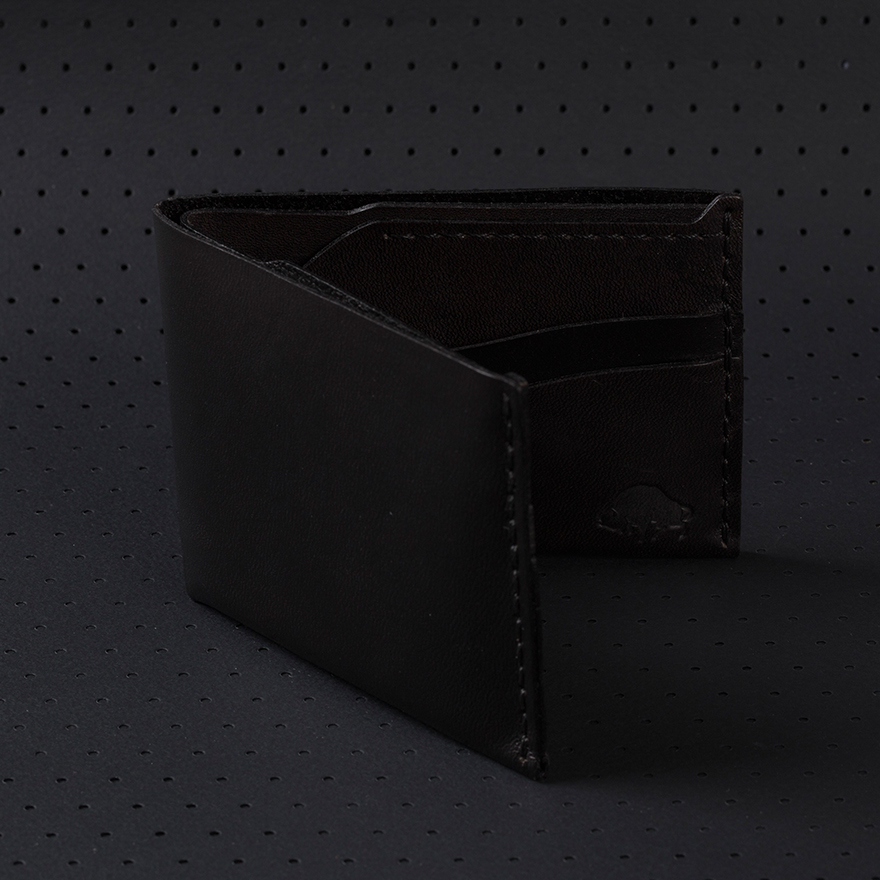No.6 Wallet - Jet Black