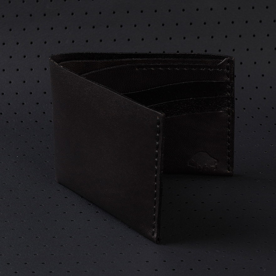 No.8 Wallet - Jet Black