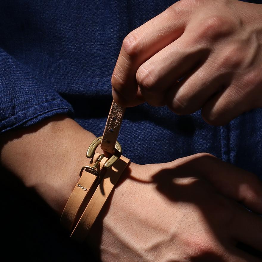 Horse Shoe Long Bracelet - Natural