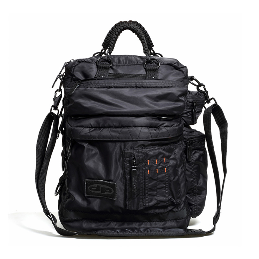 Techno Laptop Bag - Midnight Black