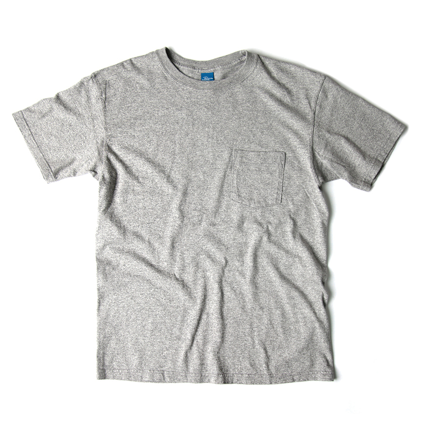 Crew Neck Pocket T-shirts - Metal