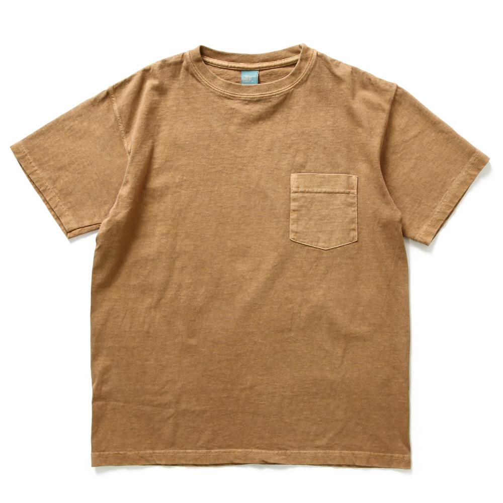 Crew Neck Pocket T-shirts - P-Mocha