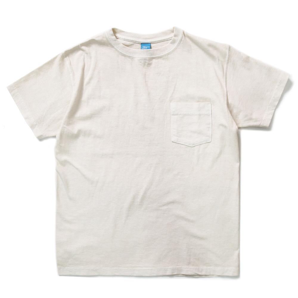 5.5oz 포켓 반팔 티셔츠 - 피그먼트 네츄럴