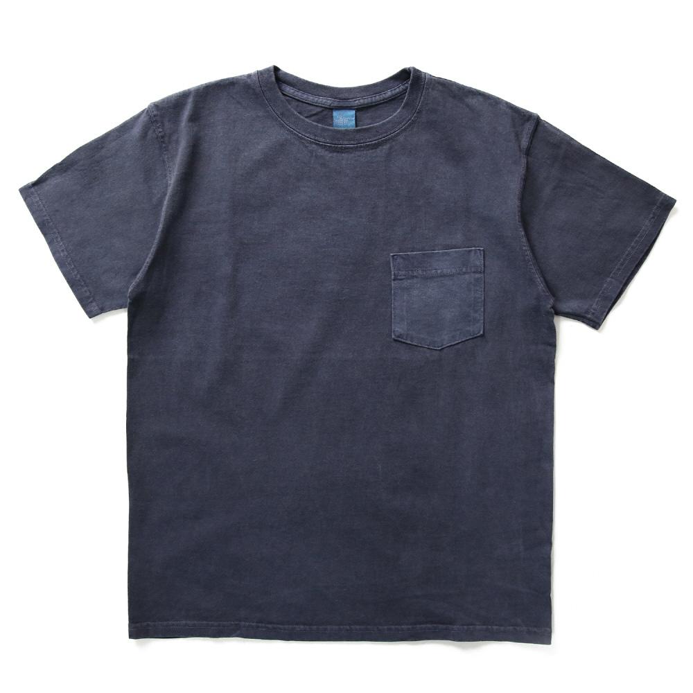 5.5oz 포켓 반팔 티셔츠 - 피그먼트 네이비