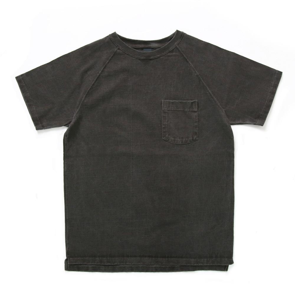 굿온 9oz 헤비코튼 포켓 반팔 티셔츠 - 피그먼트 블랙