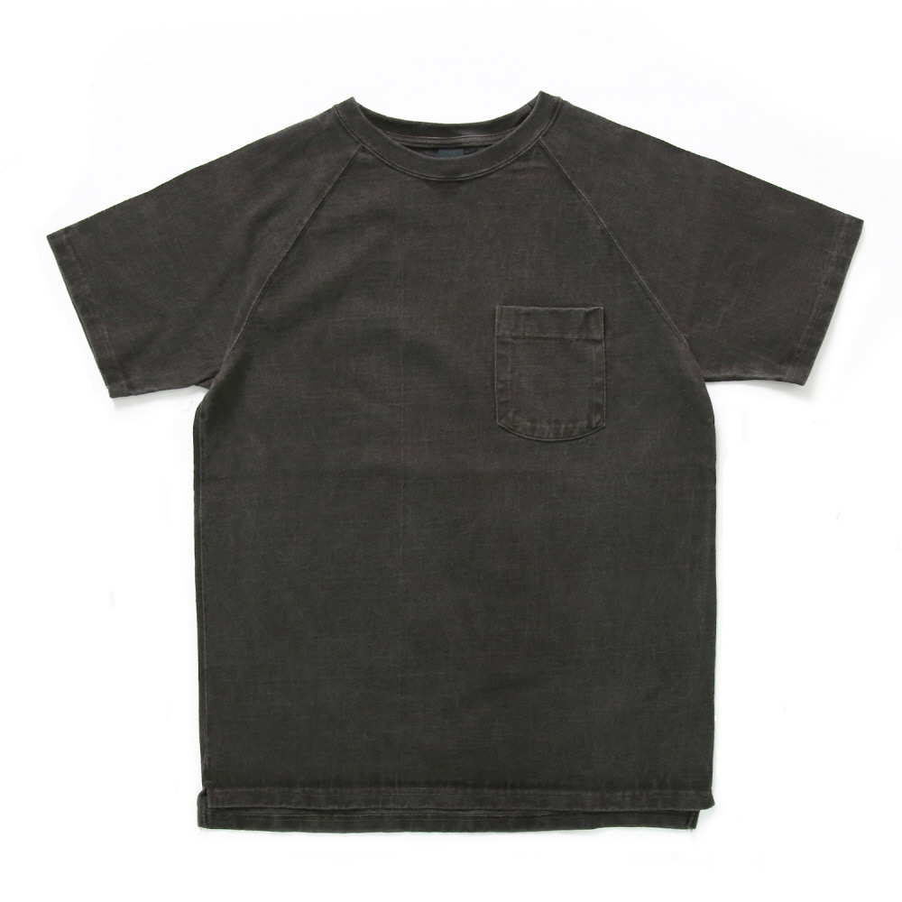 Raglan Heavy Pocket T-Shirts - P-Black