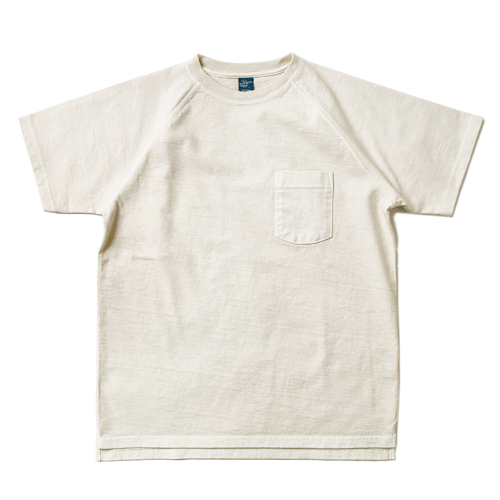 Raglan Heavy Pocket T-Shirts - P-Natural