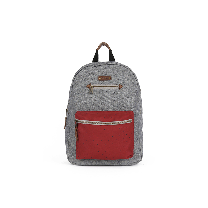 BLANCHE Backpack - Grey/Red