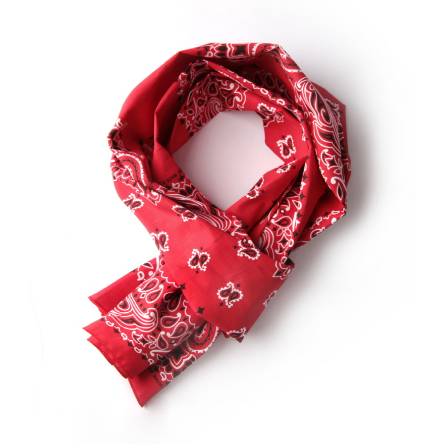 Paisley 3 Panel Scarf - Red