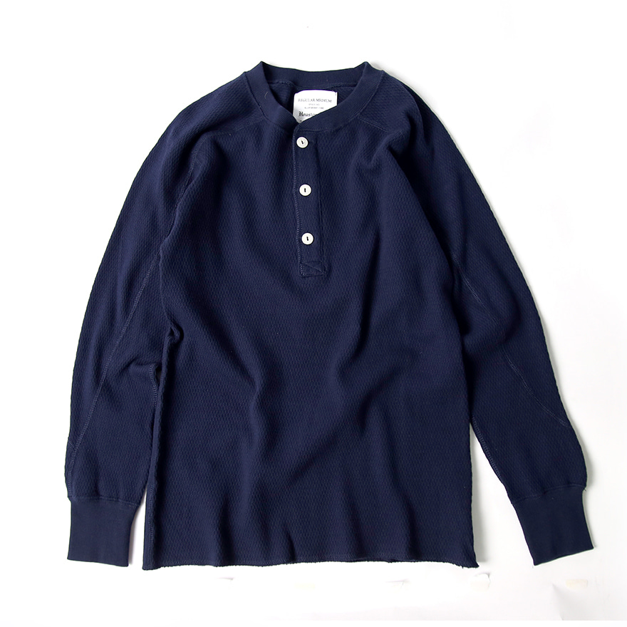 Heavy Thermal H/N Tee - Navy