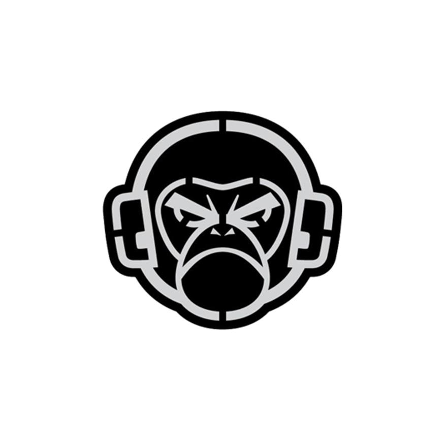 MSM Logo Decal Sticker - Grey on Black