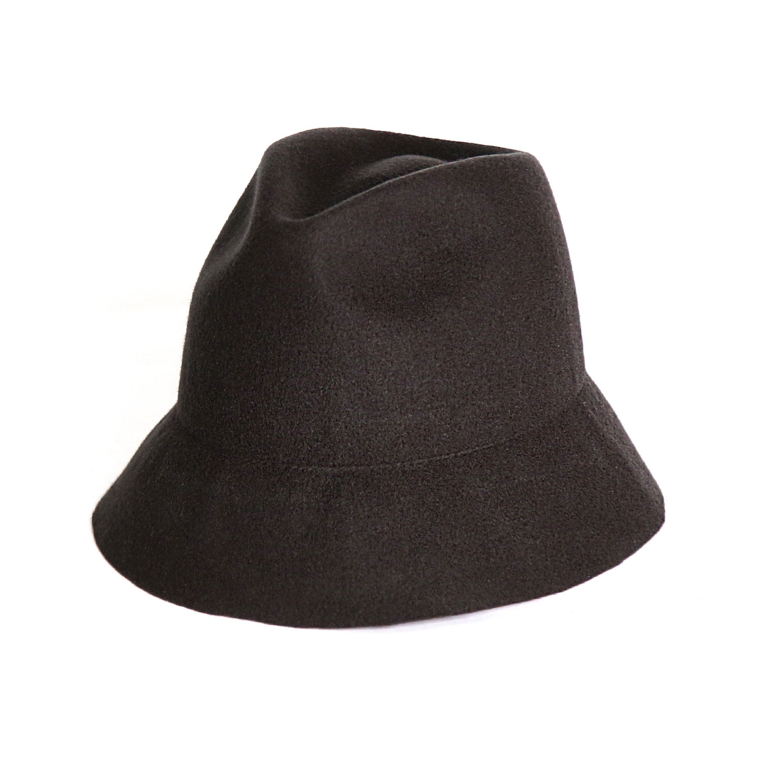 Soft Free Brim Felt Hat  - Charcoal
