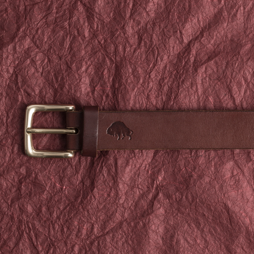 No.1 Brass Belt - Burgundy