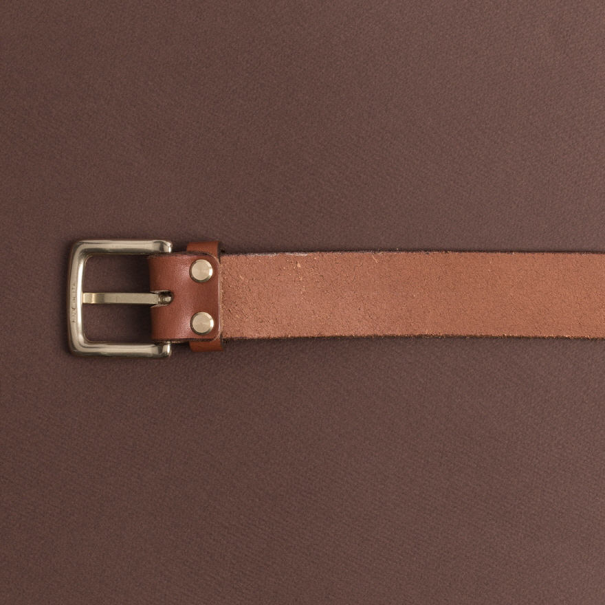 No.1 Brass Belt - Cognac