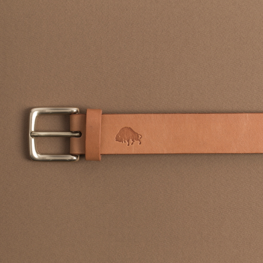No.1 Brass Belt - Golden tan
