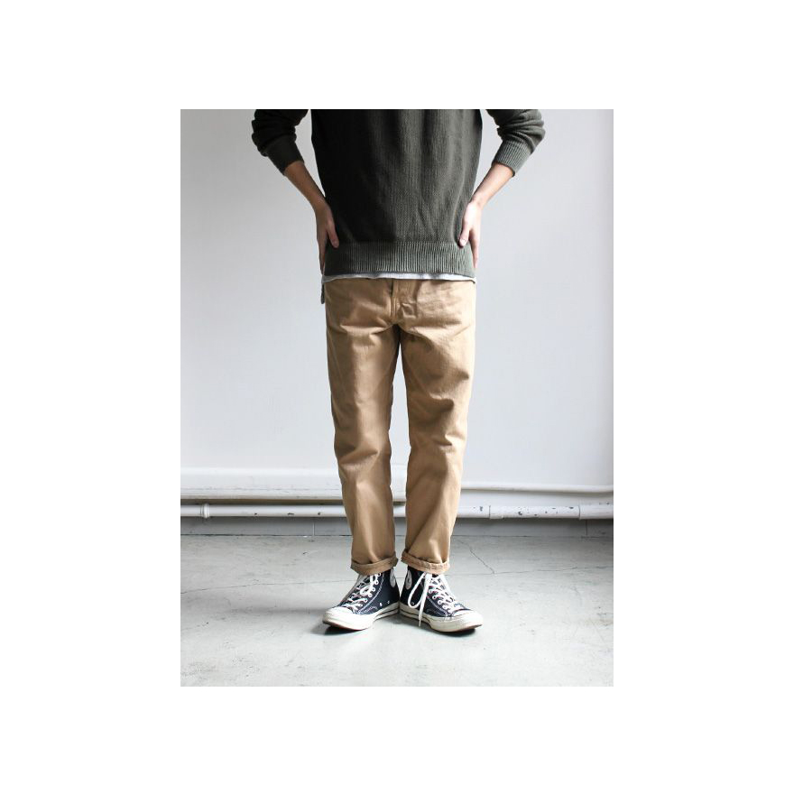 Loose Tapered Denim - Beige