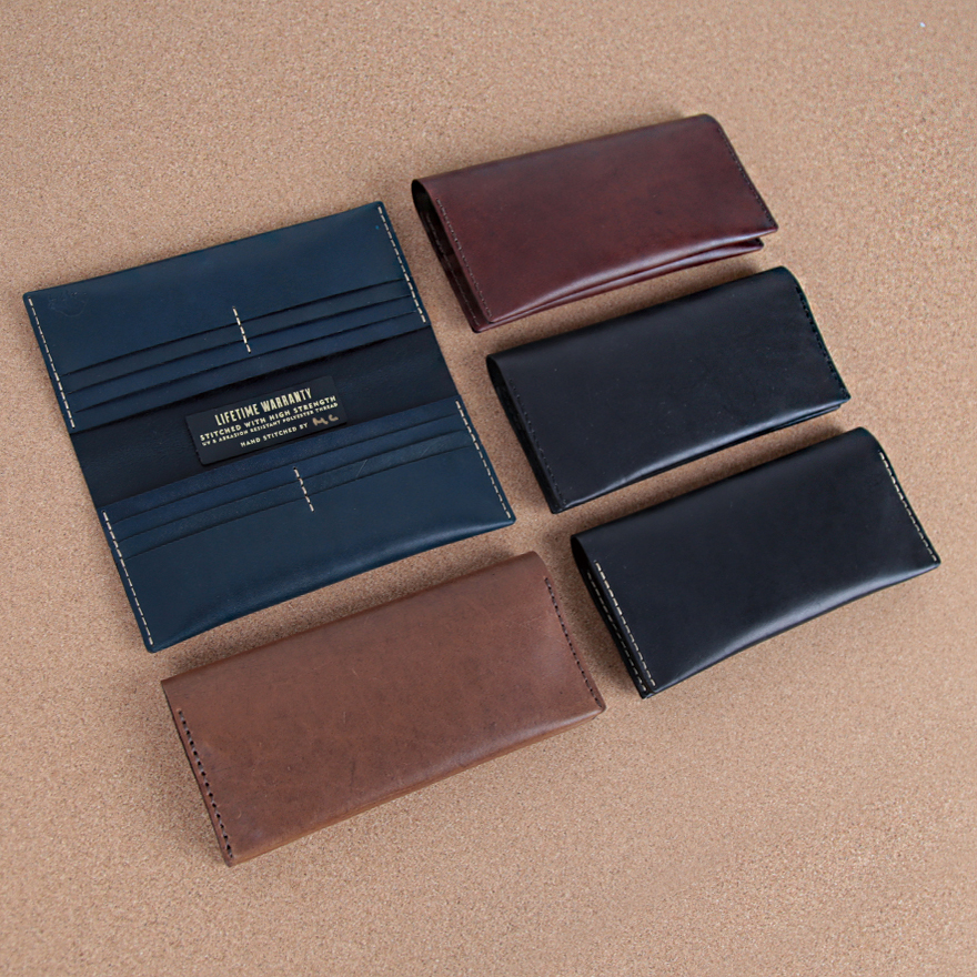 No.12 Wallet - Jet top stitch