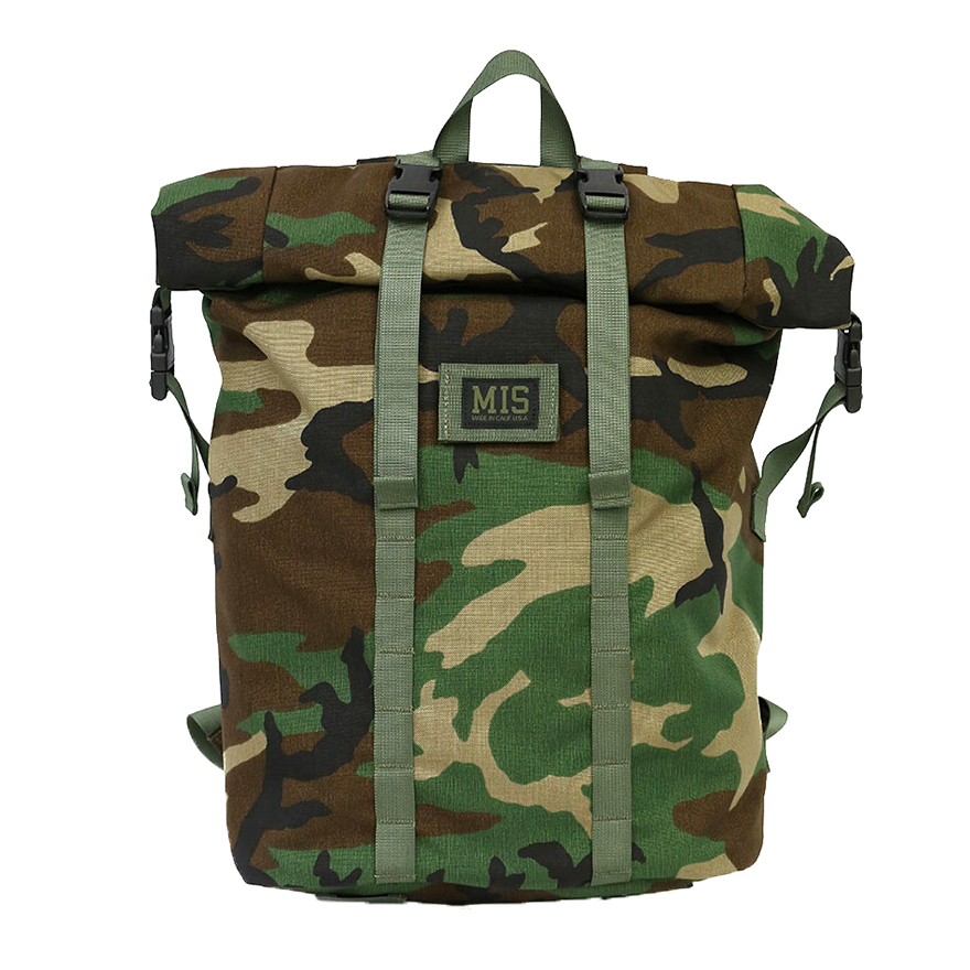 Roll Up Backpack - Woodland Camo