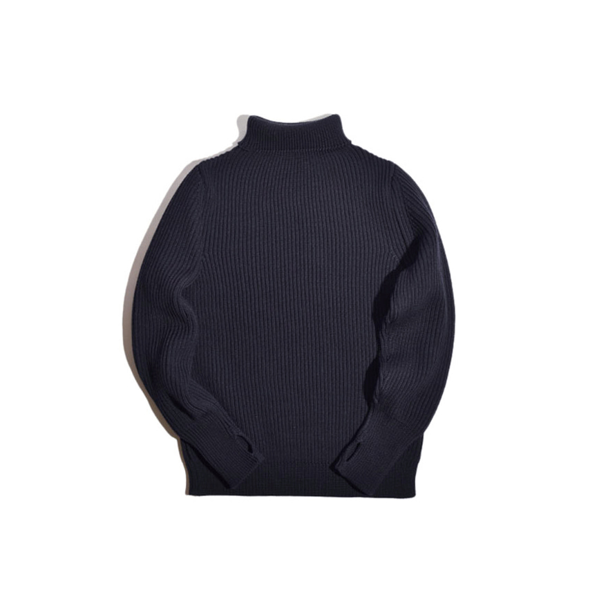 [진열상품] Navy Turtleneck - Navy Blue