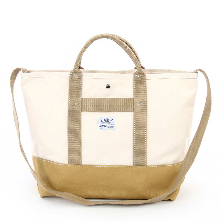 Canvas Pop Tote - Natural / Tan