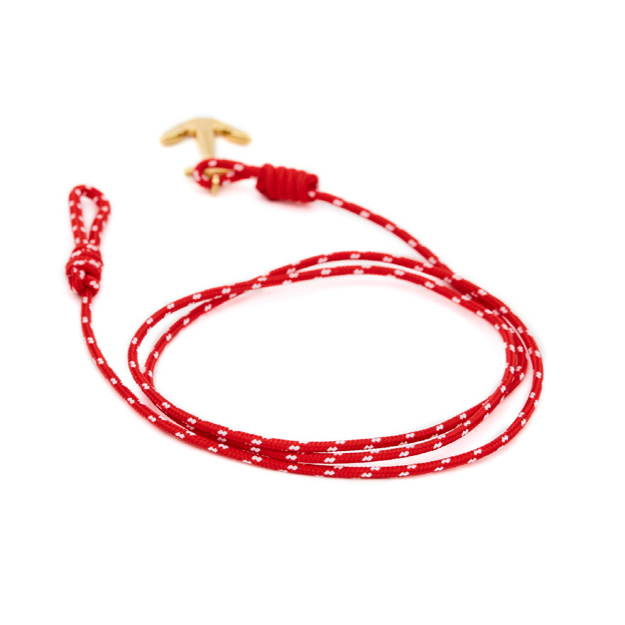 Mini Anchor Bracelet & Necklace - Christmas Red