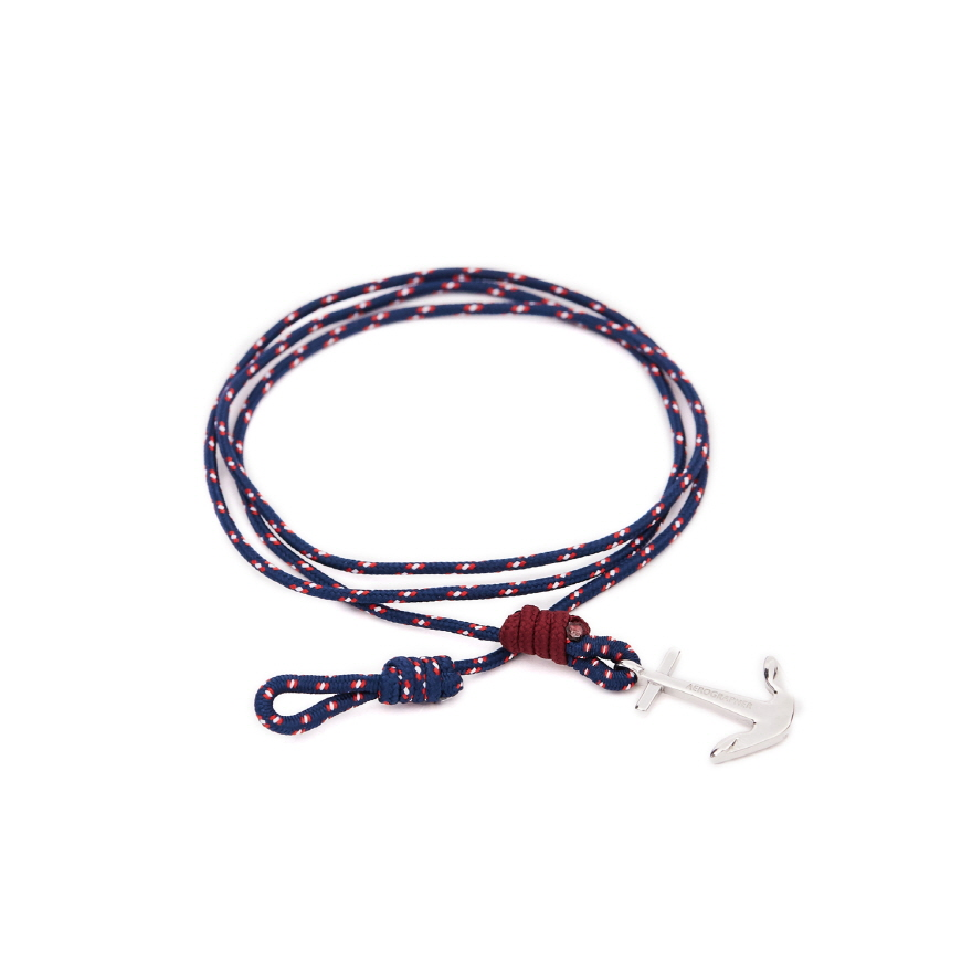 Mini Anchor Bracelet & Necklace - Surf Navy