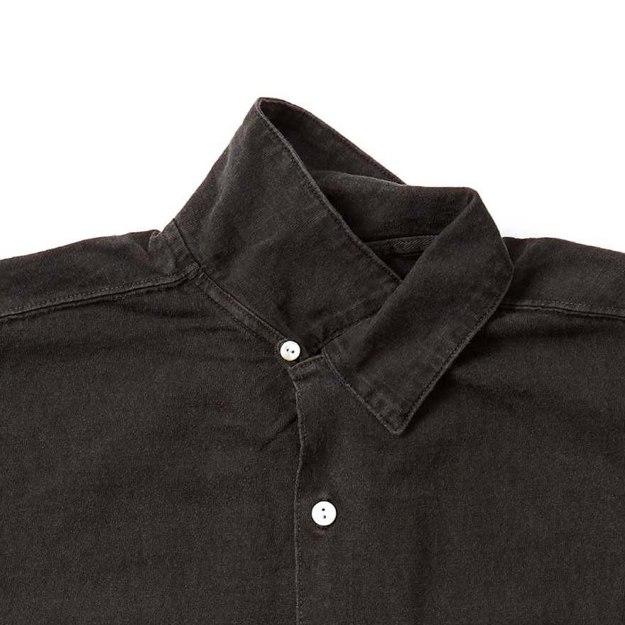 Long Open Tee Shirts - P-Black