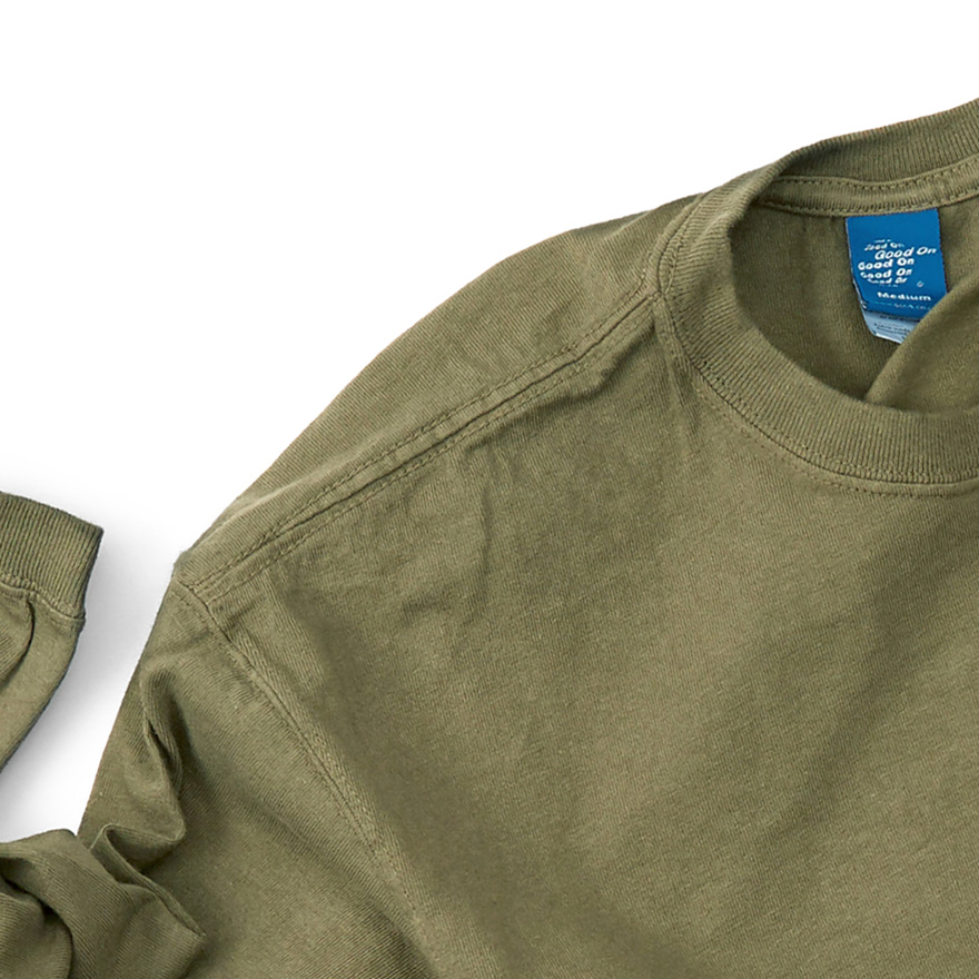 Pocket Long T-Shirts - Olive