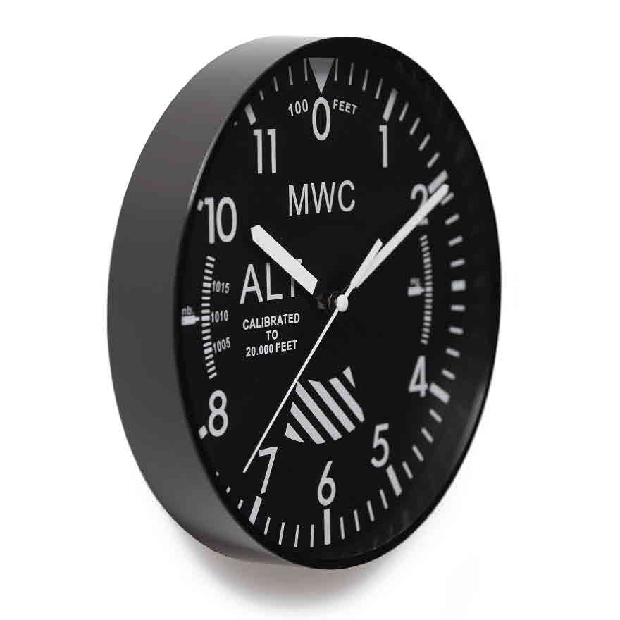 Altimeter Wall Clock - Black