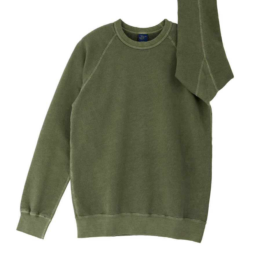 Raglan Crew Sweat - P-Sage