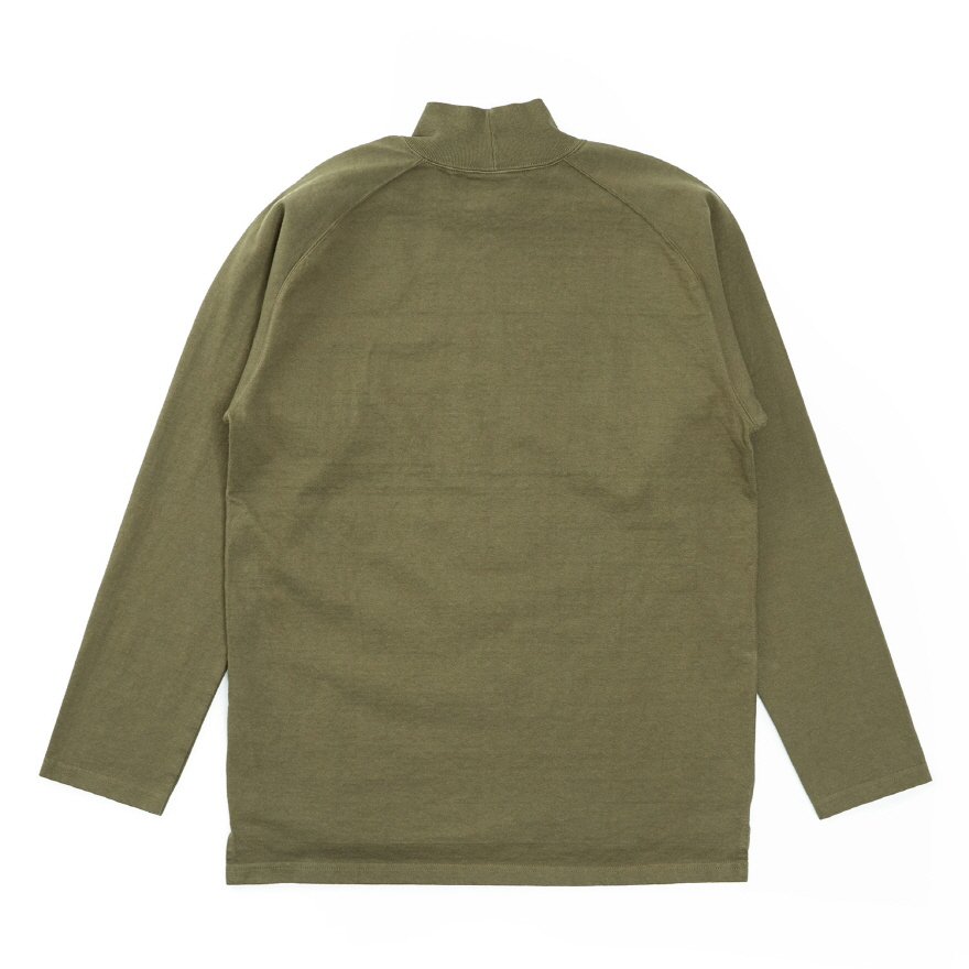 HVY Cotton Long Mock Neck - Olive