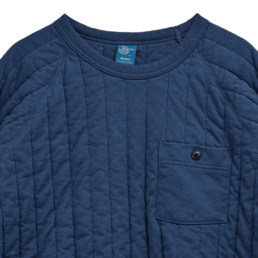 Padded Crew Shirts - Deep Lagoon
