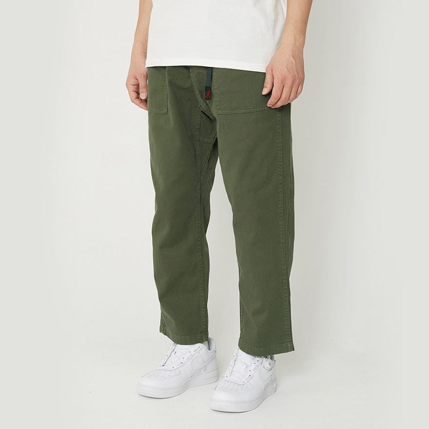 Loose Tapered Pants - Olive