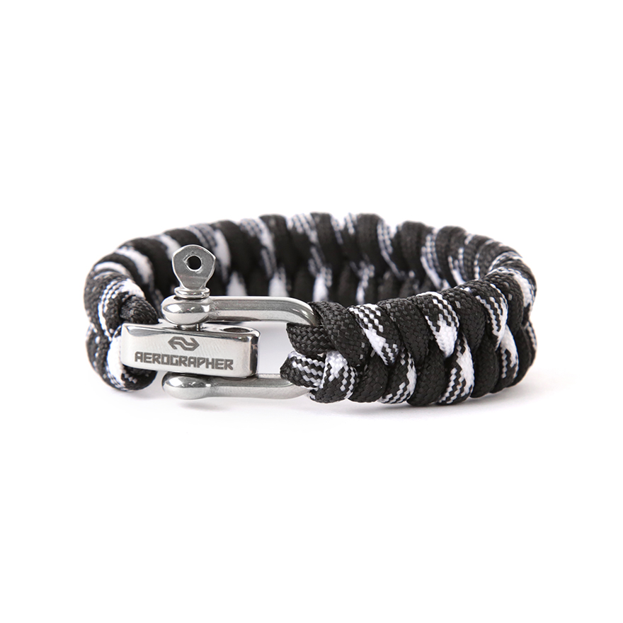 Fish Tail Bracelet - Black White