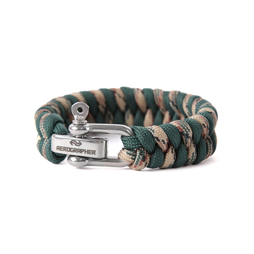 Fish Tail Bracelet - Deep Green Camo