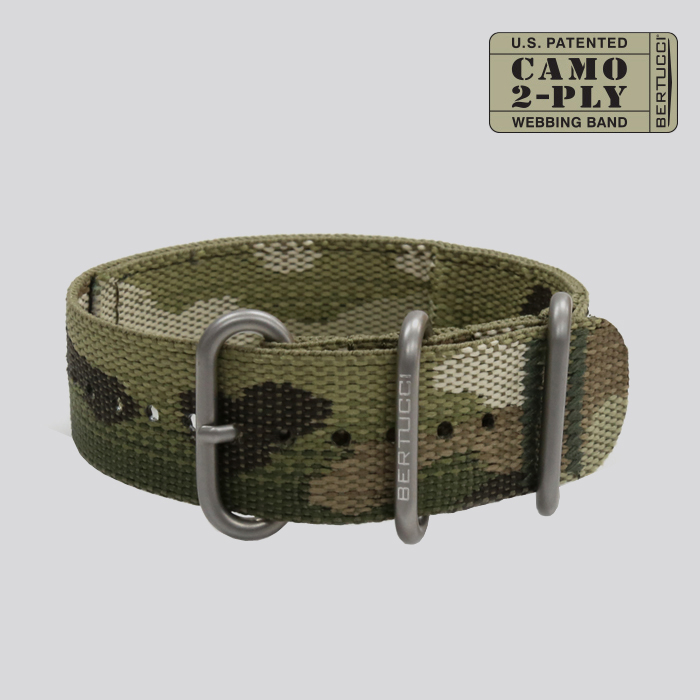 CAMO 2-PLY Webbing Band - #64MC Multicam
