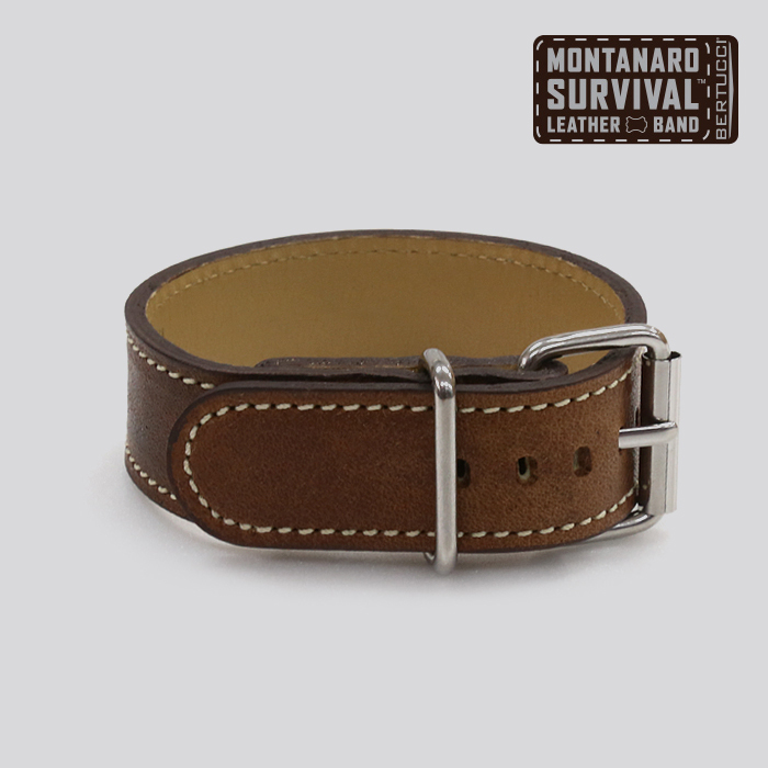 Motanaro Survival Leather Band - #128 horween nut brown