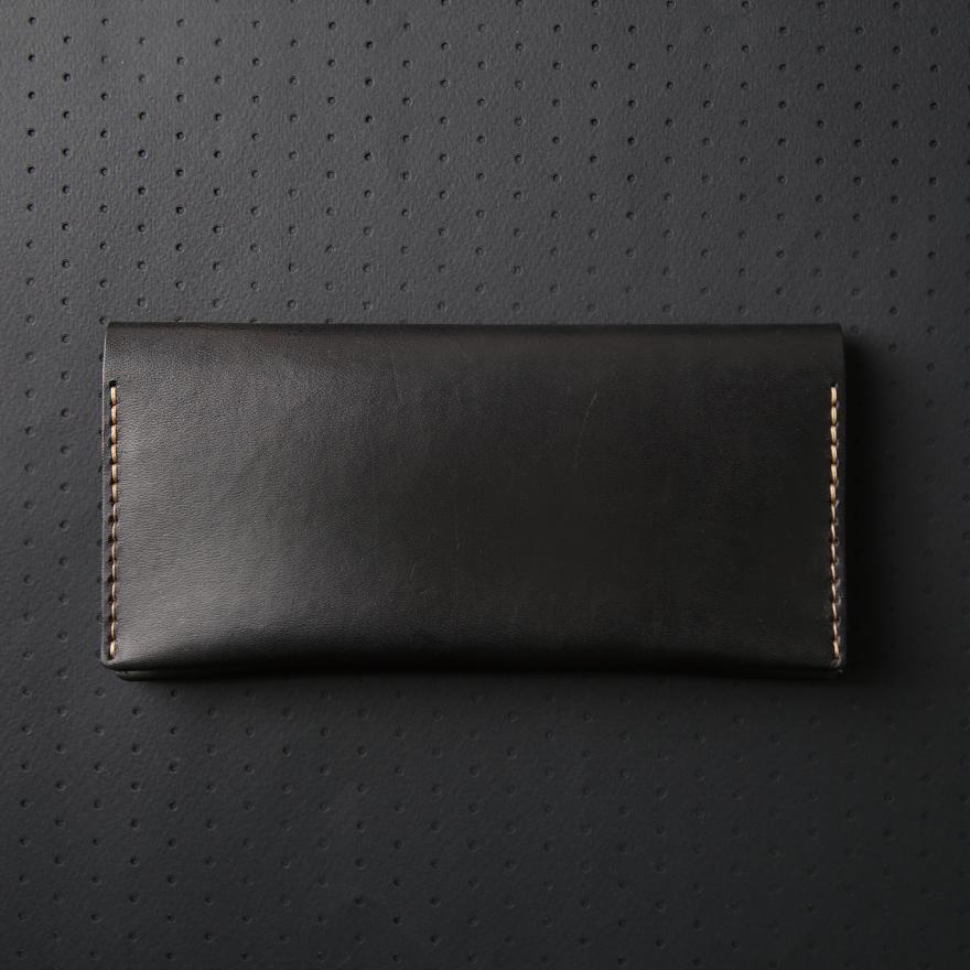 No.12 Wallet - Jet top stitch