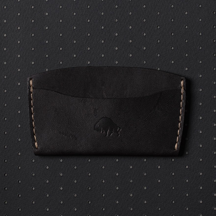No.3 Wallet - Jet top stitch