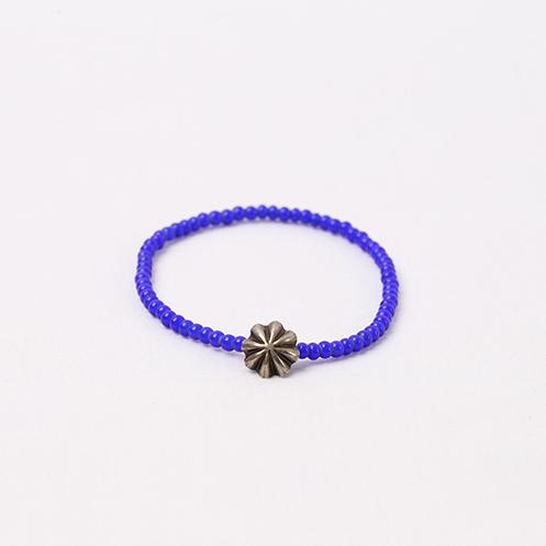 Small Concho Beads Bracelet - Cobalt