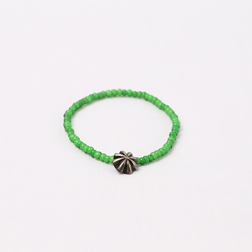 Small Concho Beads Bracelet - Green
