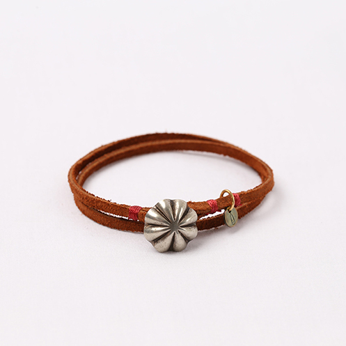 Concho Suede Bracelet - Brown