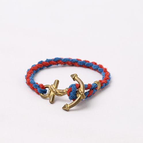 Anchor Woven Bracelet - Blue&Red