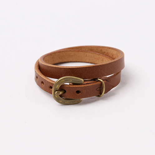 Horse Shoe Long Bracelet - Brown