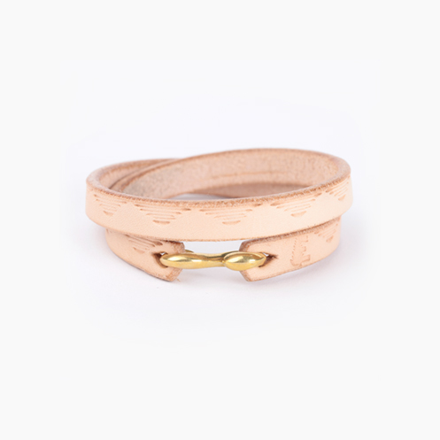 Double Wrap Bracelet_Brass - Natural