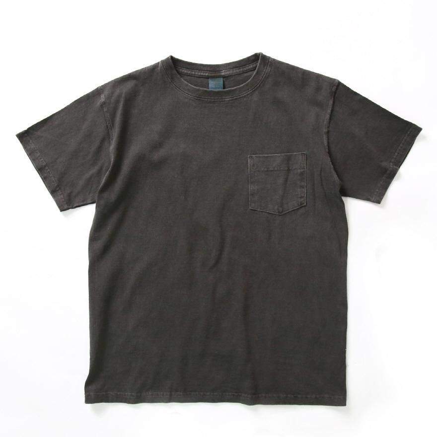 5.5oz 포켓 반팔 티셔츠 - 피그먼트 블랙